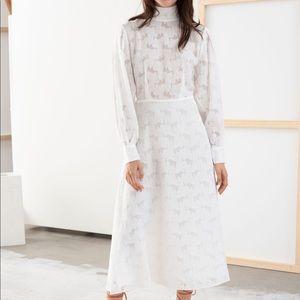 NWOT Jacquard Midi Dress